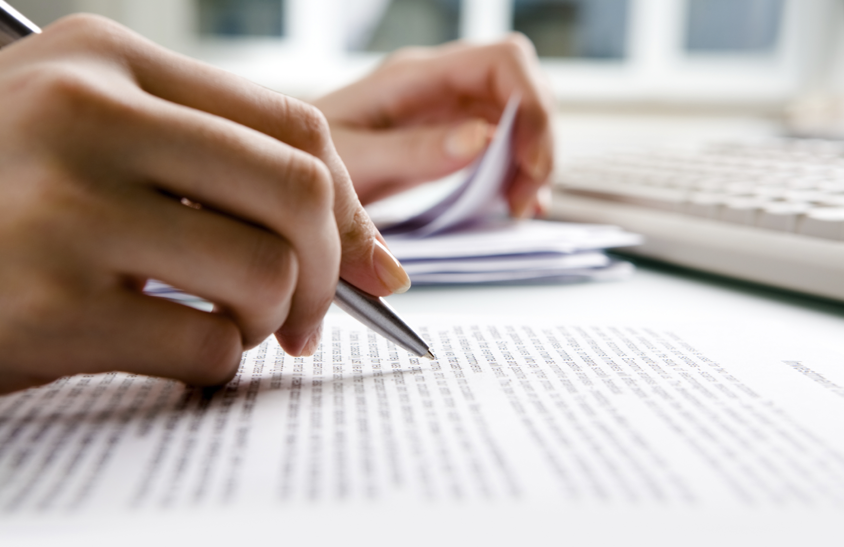 Examining Paperwork
