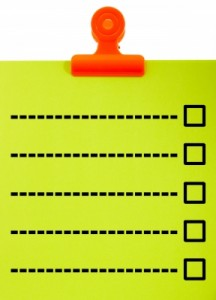 checklist for car accident